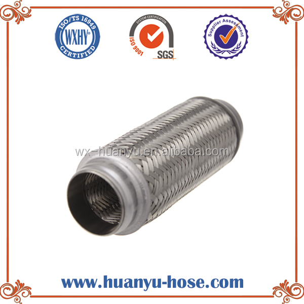 corrugated muffler exhaust pipe motorcycles with inner braid