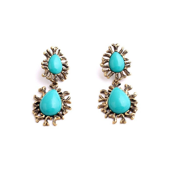 Latest design blue stone pendant earring indian jewelry new york latest design blue stone pendant earring indian jewelry new york wholesale china jewelry beaded aloadofball Image collections