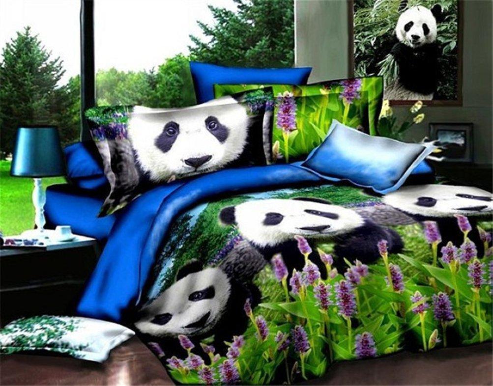 Bobbycool The Panda 100% Cotton Bed Set Bedding Set King Size Bedcover 3d Bedding Set Luxury Duvet Quilt Cover Sets