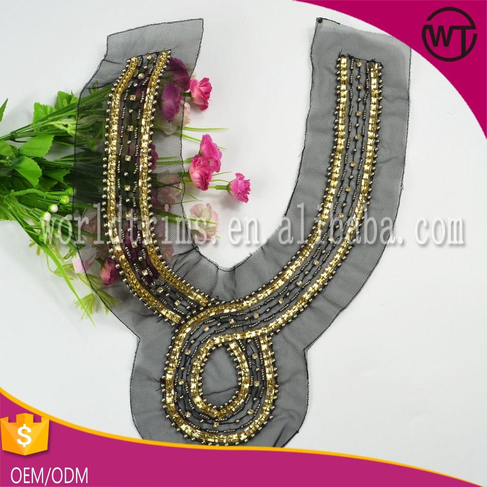 Acrylic Stone Beaded Collar Trim Of Best Garment Accessories ...