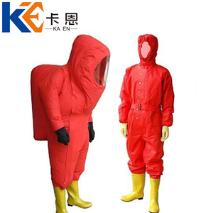 Red Chemical Protective Suit, Red Chemical Protective Suit