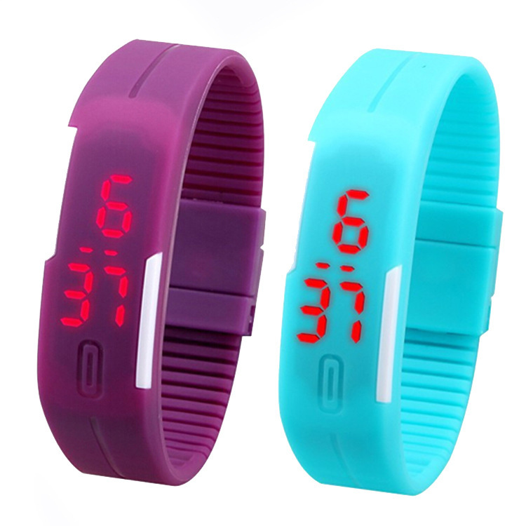 2015 New Design LED Watch Women Fashion Sports Watches Silicone Candy Multicolor Touch Screen Digital Man Wristwatch Bracelet