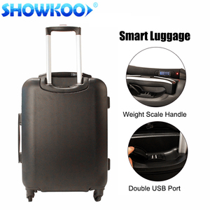 Intelligent luggage with USB, digital weighing scale, tracker, BT lock, ABS Smart suitcase bags