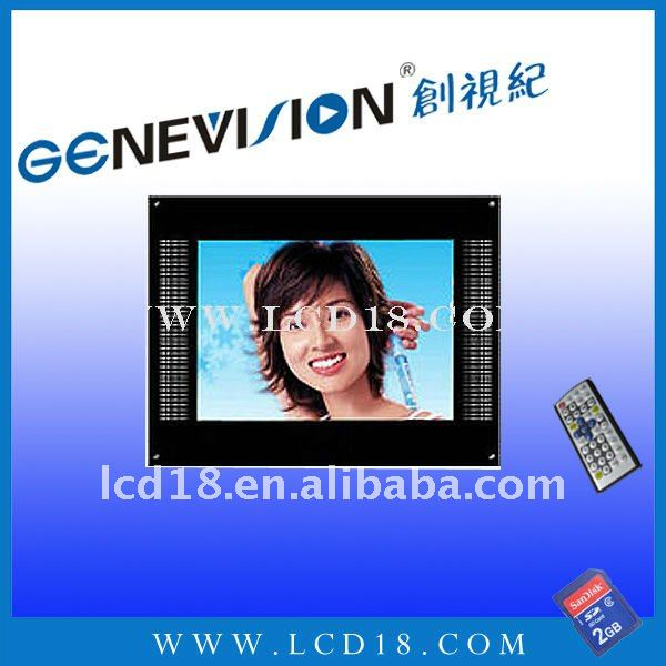 "17"" lcd advertising player for wall building with card"