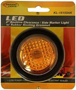 Autosmart KL-15114AE Amber Oval LED Side Marker Light with Chrome Bezel