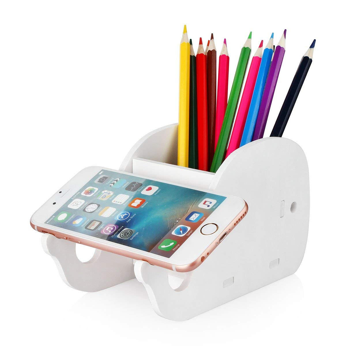 Get Quotations Cell Phone Stand Coolbros Wood Pencil Holder With Desk Organizer Desktop Pen