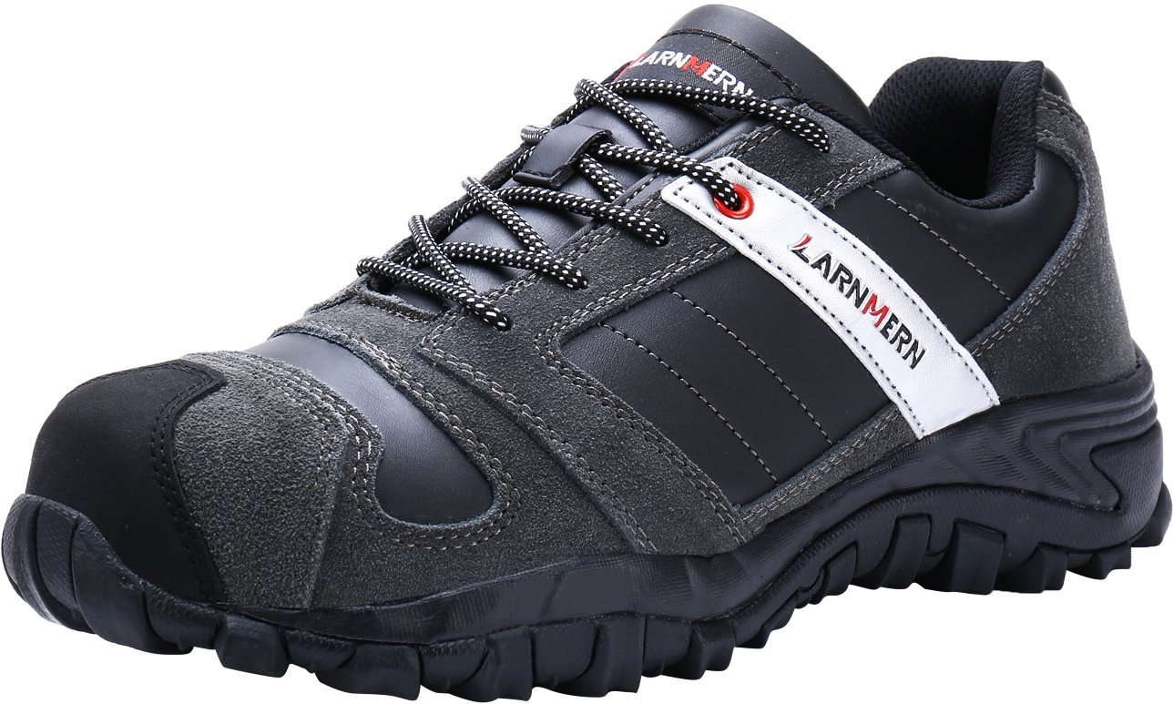 1c7779ed832d1 Buy LARNMERN Steel Toe Shoes Men, Work Safety Sneakers Reflective ...