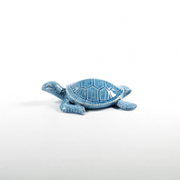 Popular ceramic craft decoration porcelain sea turtle swimming figurine