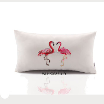 Applique Designs For Sofa Cushions Flamingo Decorative Embroidery Fascinating Designer Decorative Throw Pillows
