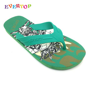 2019 Cheap Wholesale Newest Design Fashion Custom Printed Eva Men Slipper