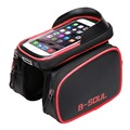New Cycling Bike Front Frame Bag Tube Pannier Double Pouch for Cellphone Bicycle Accessories Riding Bag