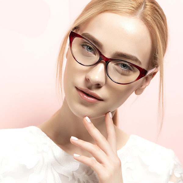 a6c07e0024 Get Quotations · Fashion TR90 Glasses Frames Brand Glasses Frame Women  Radiation Lens Reading Glasses Women Cat Eye Gafas