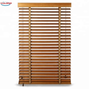 YL High quality hot sale horizontal style 50mm basswood wooden blinds for home and office