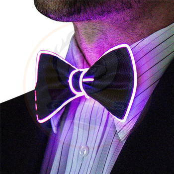 Wholesale Hight Quality Glow Bow Tie Halloween LED EL Bowtie Manufacturer China LED Flashing Necktie