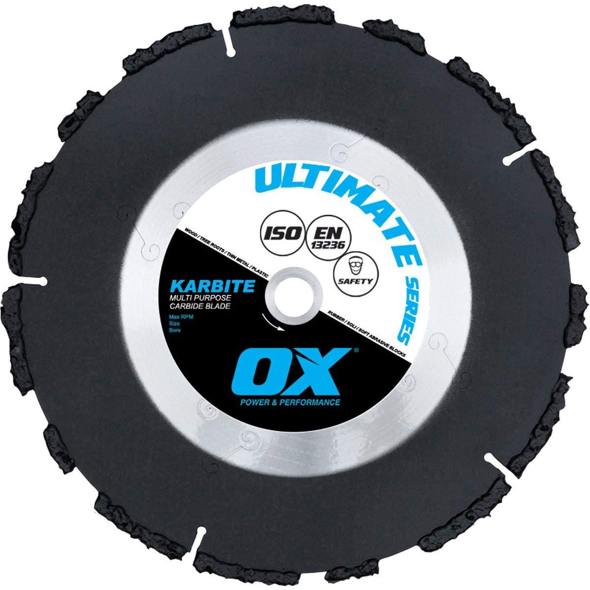 OX OX-UKB-4.5 Ultimate Multi-Purpose 4.5-Inch Carbide Blade, 7/8-Inch-5/8-Inch Bore