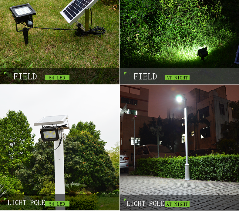 2016 hot super bright 12 leds with 6V*3W solar panel waterproof solar lawn garden light warm white indoor emergency night Metal
