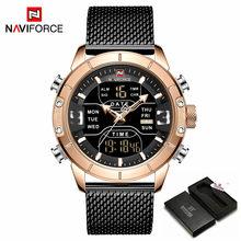 Часы NAVIFORCE, мужские роскошные брендовые кварцевые спортивные военные часы, цифровые повседневные электронные водонепроницаемые часы, Relogio ...(Китай)