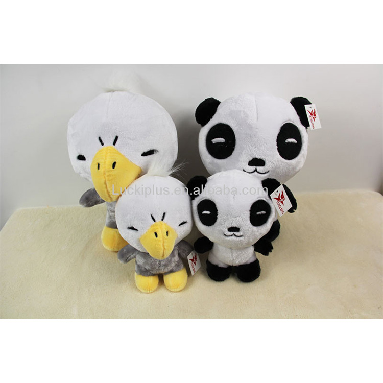 Luckiplus Cute Plush Doll Soft High Quality Duck and Panda Toy For Boy and Girl