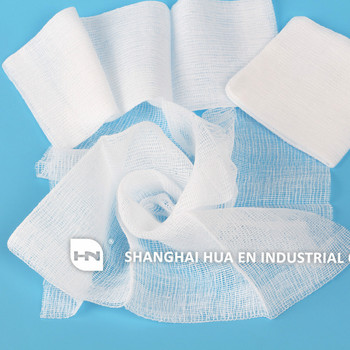 100% Cotton Absorbent gauze swab / sterile gauze pads with X-ray