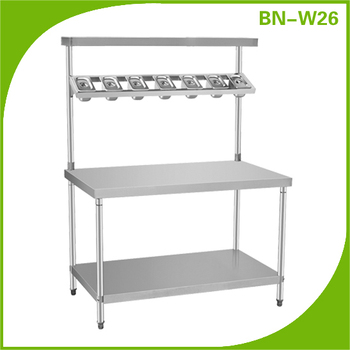 Stainless Steel Chefs Prep Table For Gastronorm Pans Buy Chef - Stainless steel prep table with shelves