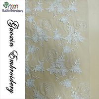 Luxury Embroidery 3d Floral Beads French Lace Fabric Bridal Lace Fabric 3d Flower