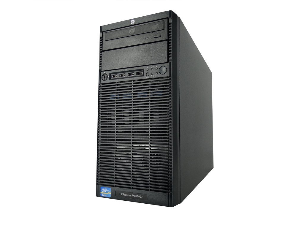 HP ProLiant ML110 G7 Tower Server with Intel Xeon E3-1220 3.1GHz Quad Core Processor, 16GB Memory, 4x 500GB SATA Hard Drives, Smart Array B110i SATA Controller