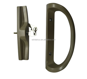 High Quality UPVC US America Sliding Patio Door Handle With Mortise Lock