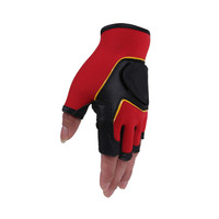 Fingerless Weight Lifting Fitness Running Bike Riding Training Gym Outdoor Sport PU Gloves
