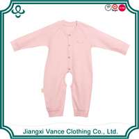 2016 China factory wholesale production baby clothing free shipping child clothes with high quality pink baby romper