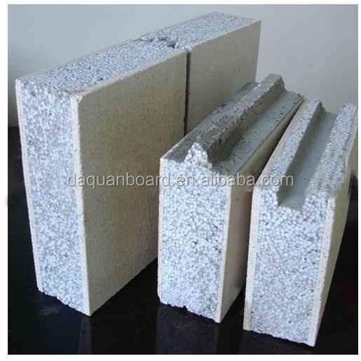 Wuhan daquan eps ciment panneau mural sandwich pour mur for Panneau ciment exterieur