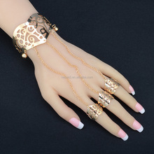 Fashion Gold Bracelet With Finger Ring Wholesale NSZL-0030