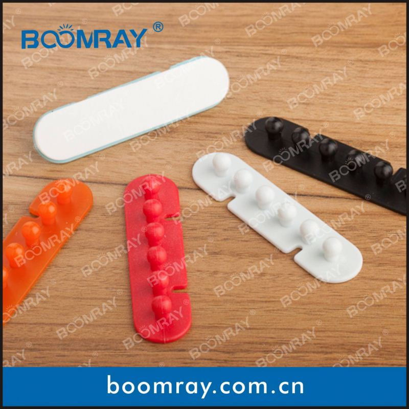 Ningbo Boomray factory hot sale PP multipurpose electronic colorful cable clips tie wire winder hockey gifts