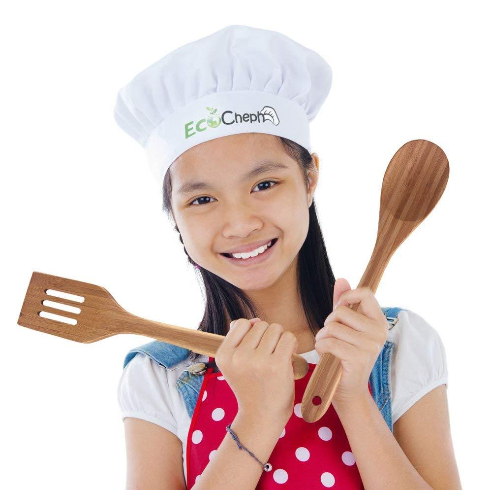 4 piece eco-friendly non Scratch natural organic bamboo utensil set 3