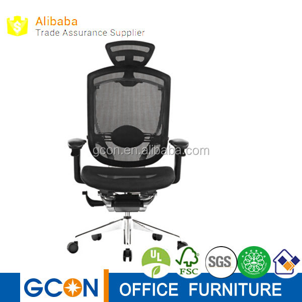 High tech mesh adjustable ergonomic executive office chair with neck support