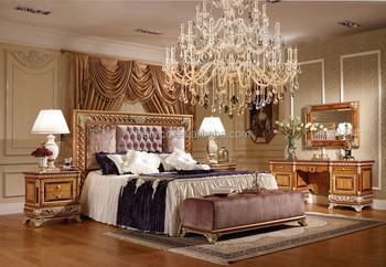 wood and upholstery bed. Victoria Style Palace Gilt Wood Bedroom Set  Exquisite Carved Furniture Noble