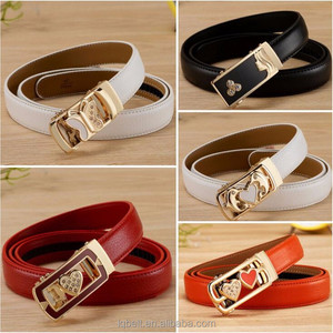 new fashion women automatic buckles belt Leather belts for women factory wholesale colorful belts