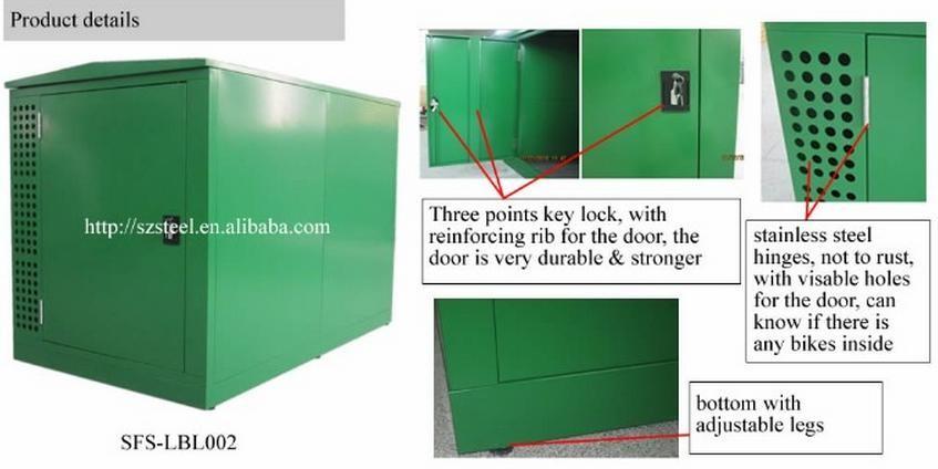 Bike Storage Containers Outdoor Bike Lockers Steel Bike Locker For Sale Buy Bike Storage