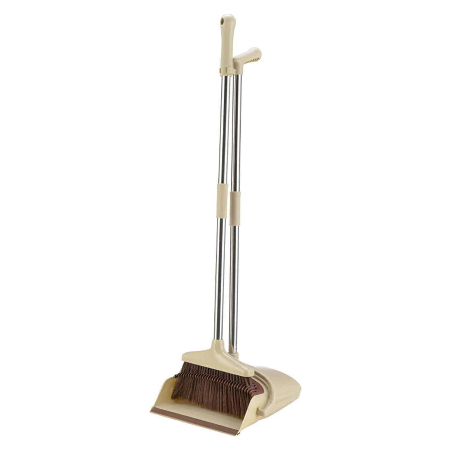 Broom and Dustpan Set,Windproof Broom Dustpan Set Combination Home Sweeping Artifact Single Broom Fur Hair Filter Hair for Sweeping Home, Lobby and Office