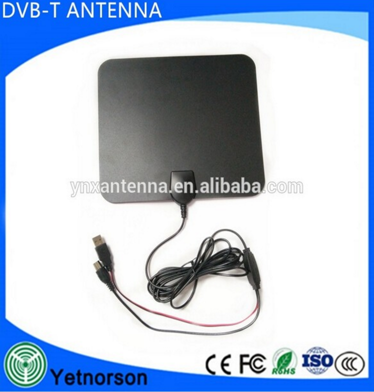 UHF VHF Digital TV Antena Aerial 35DBI Amplifier ISDB-T flat tv Antena