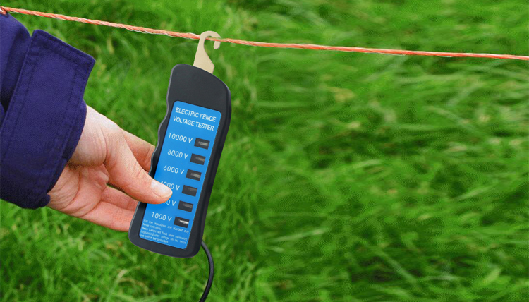 Electric fence tester for animal fence 1000-10000V