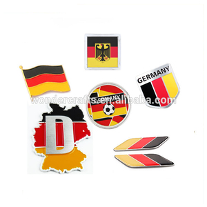 High quality souvenir germany football concave convex copper silver plating lapel pins flag badge