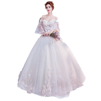 High Quality Custom Wedding Dress Bridal  French Princess Wedding Gown