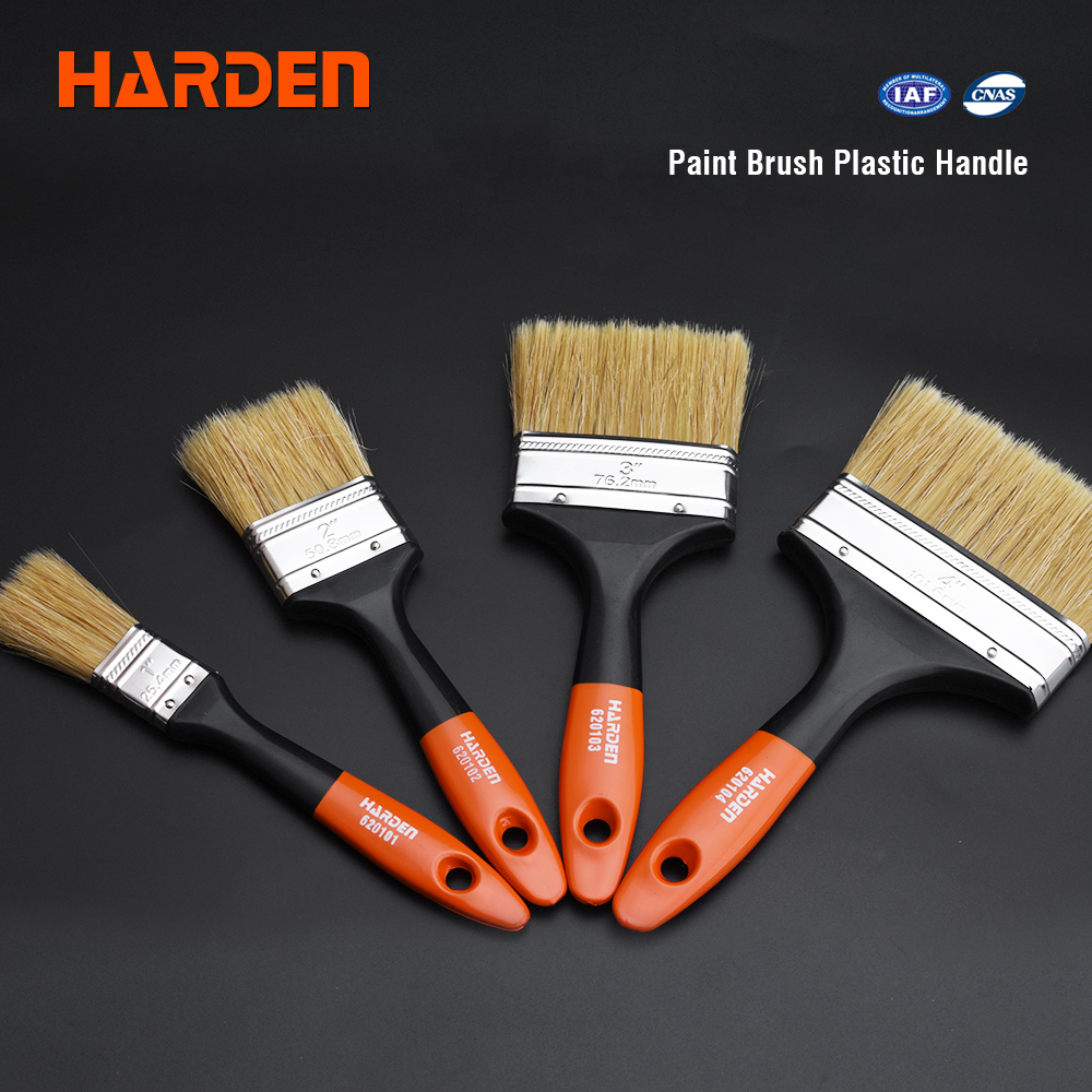 Wholesale Custom High Elastic Wall Paint Brush with Wood Handle