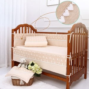 New style cute organic cotton infant crib bedding set