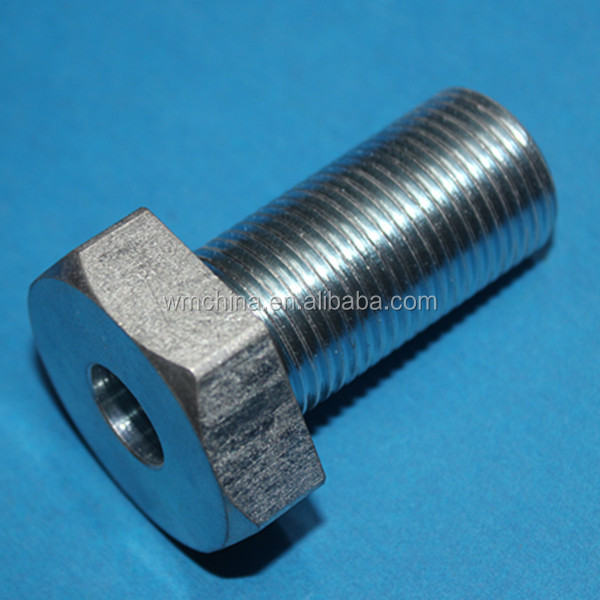 precision mild steel cnc machining parts with zinc plating