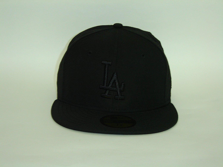 43934248c68ae Get Quotations · New Era MLB Los Angeles Dodgers Basic Black Black Cap  59Fifty NewEra