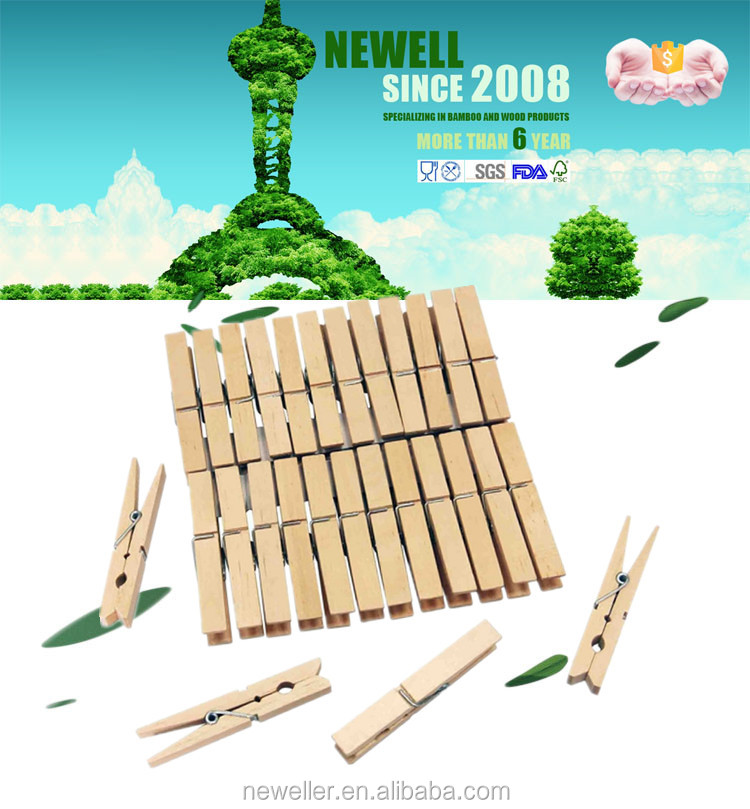 laundry 2016 low price mini wooden pegs for scooter with logo