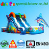 Commercial Colourful cheap inflatable water slides for sale