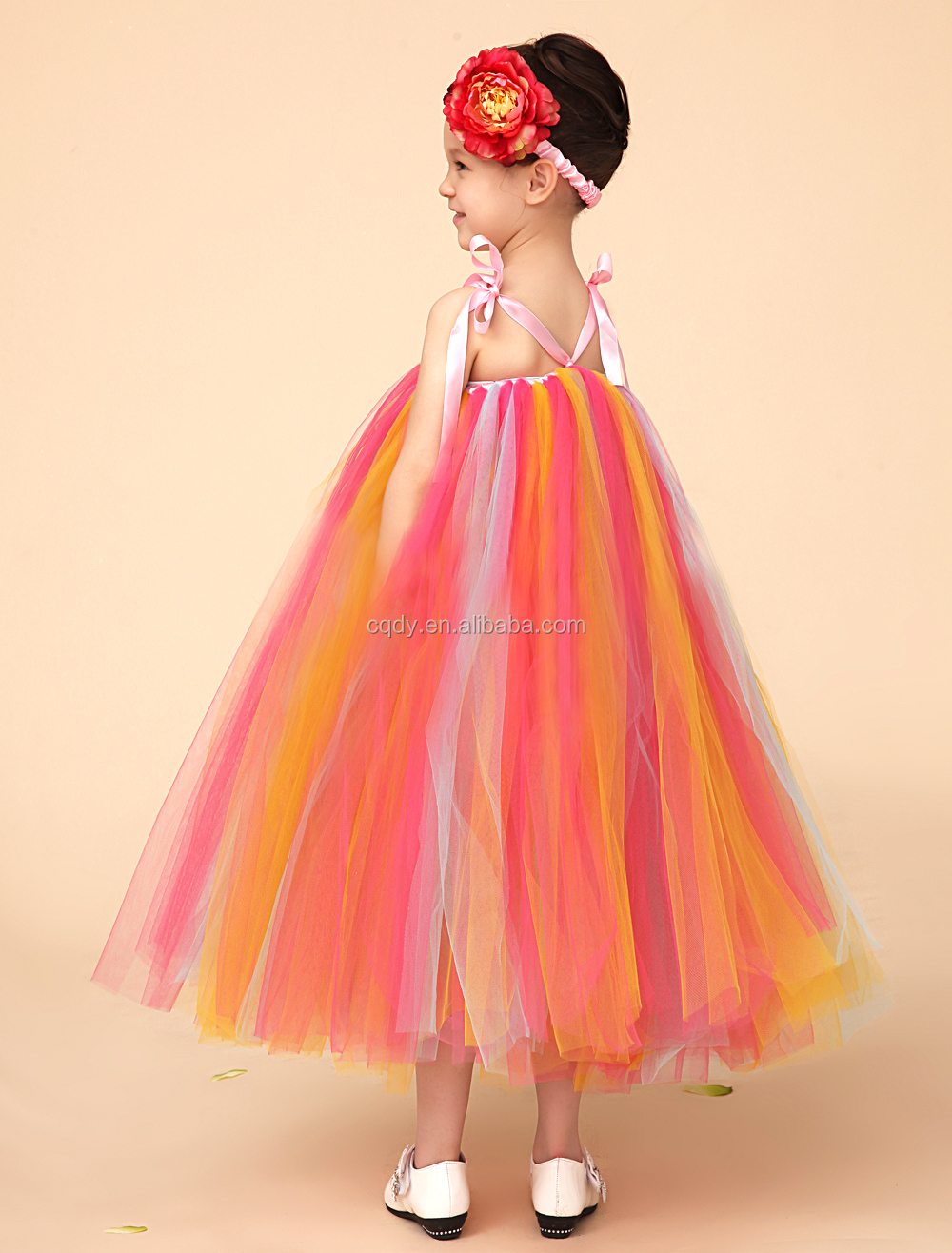 Modern dress advantages - Genuine Colorful Simple Style Kids Girls Dress Modern One Piece Colorful Matching Girl Daily Wear