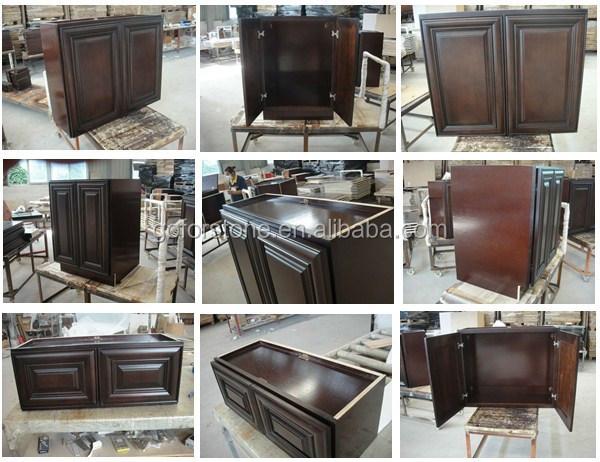 Dijual Panas Yang Modern Lemari Dapur Kayu Beech Kabinet Laci Slide